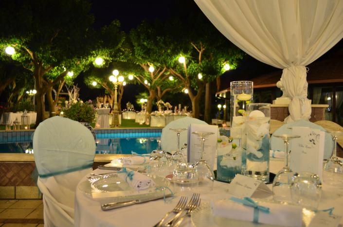 Sala Nettuno - Villa Oasis Ricevimenti Acireale - Mise en place